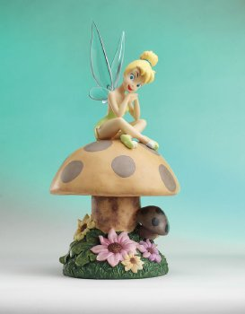 The enchanted castle offering licensed disney producs and animation art - Tinkerbell statues ...